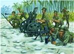 Japanese 70mm gun support team