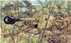 2nd WW German PAK40 AT gun w/servant